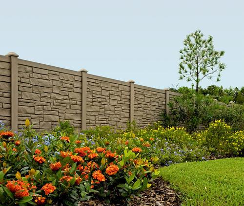 Simtek Fence 6 H X 6 W Decorative Rock Fence Panel At