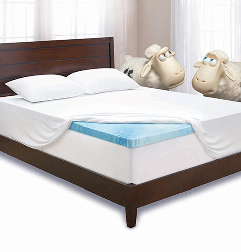 "Serta 3"" Gel Memory Foam Mattress Topper Full Size at Menards®"