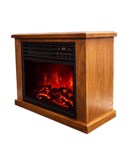 Lifesmart Pro Compact Infrared Fireplace With 17 Insert Medium Oak At Menards