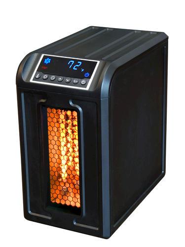 Portable Electric Radiant Floor Heating For Under Area: Lifesmart Pro 3 Wrapped Quartz Element Portable Vertical