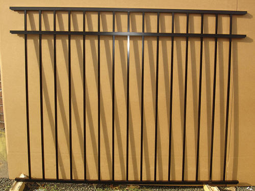 Ez fence asbury 4 39 6 x 6 39 3 rail aluminum fence panel at menards - Your guide to metal fence panels for privacy and safety ...