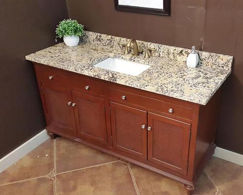 Menards Vanity Tops : Quot star thunder granite vanity top rectangle