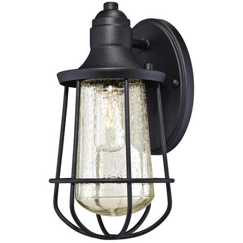 Westinghouse Elias Black 1-Light Outdoor Wall Light at Menards