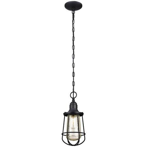Westinghouse Elias Black 1 Light Outdoor Pendant Light At