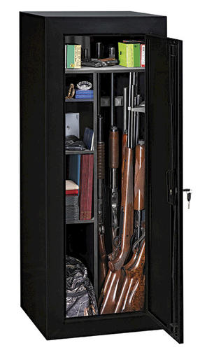 Gun Security Cabinet >> Sentinel™ 18-Gun Black Convertible Steel Security Cabinet ...