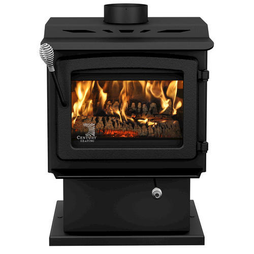 Vogelzang's Performer is an air tight, plate steel wood stove with a pedestal base and heavy cast iron door, featuring air washed ceramic glass that allows a magnificent view of the burning fire.