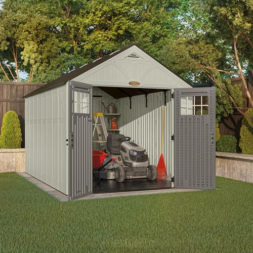 Suncast tremont 8 39 x 13 39 storage building at menards for Garden shed kits menards