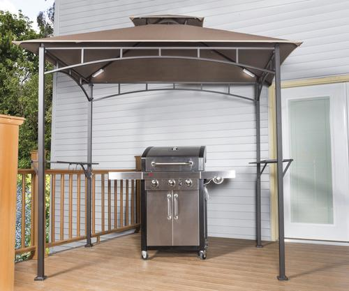 backyard creations soft top grill gazebo with led lights at menards
