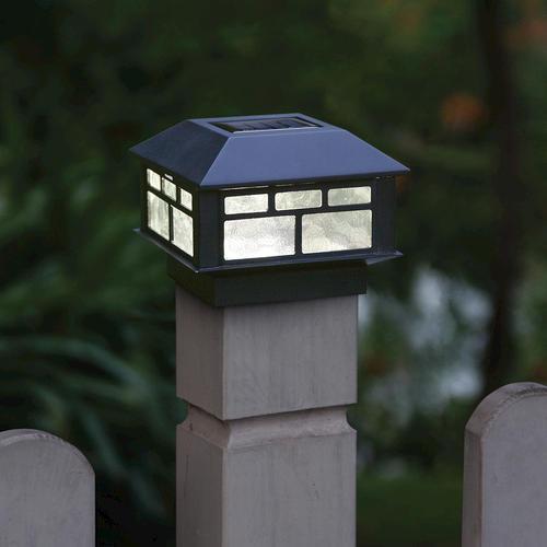 Sunbury 3 7 8 Quot Black 1 Light Solar Post Cap Light At Menards 174