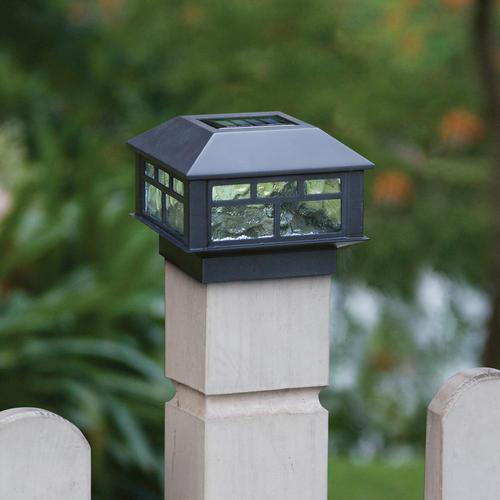 """Solar Lights At Menards: Sunbury 3-7/8"""" Black 1-Light Solar Post Cap Light At Menards®"""