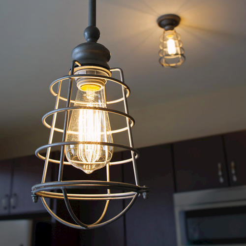 Ajax 1 Light Galvanized Indoor Mini Pendant At MenardsR