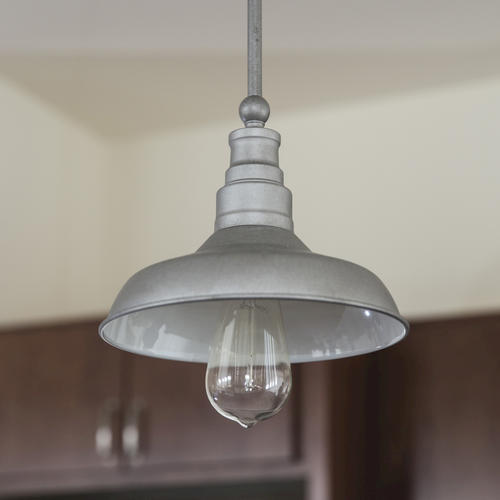 Kimball 1 Light Galvanized Indoor Mini Pendant At MenardsR