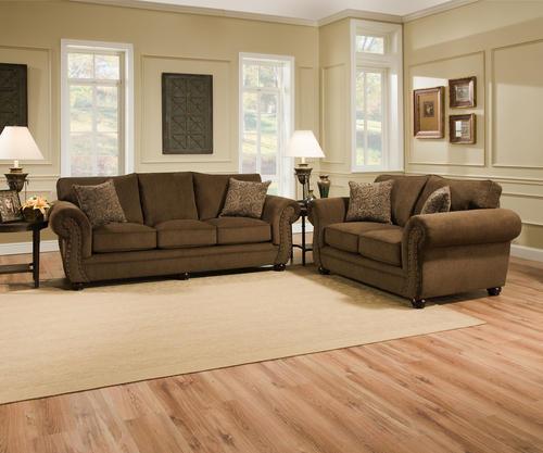 Menards Living Room Furniture simmons Troy Bronze Chenille