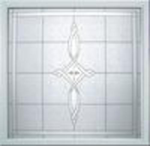Hy lite 49 x 49 fixed amherst decorative glass picture for Acrylic glass blocks