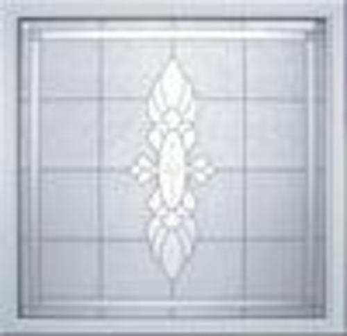 Hy Lite 49 X 49 Fixed Manchester Decorative Glass