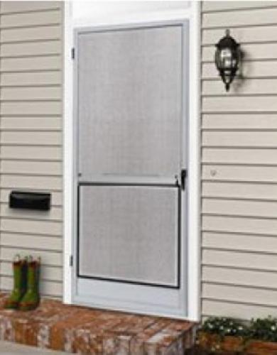 36 Quot X 80 Quot White Hinged Screen Door With Grilles At Menards 174