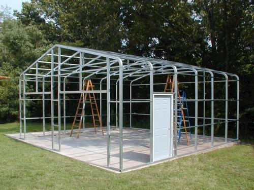 Steel Garage Shelters : W l h garage frame at menards
