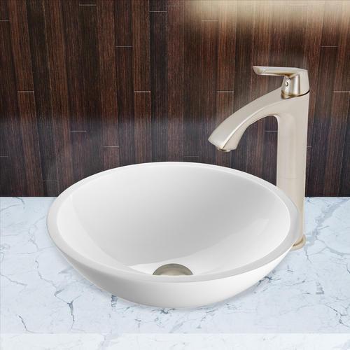 Vigo Linus Bathroom Vessel Faucet In Brushed Nickel At
