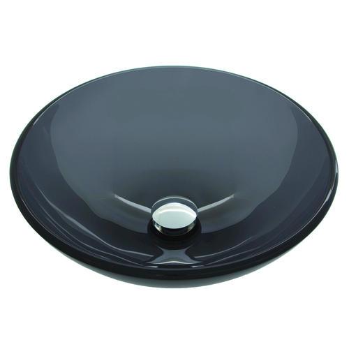 Vigo Sheer Black Glass Vessel Bathroom Sink At Menards