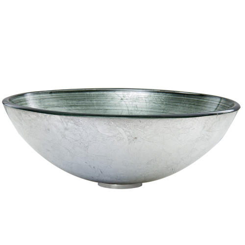Vigo Simply Silver Glass Vessel Sink At Menards