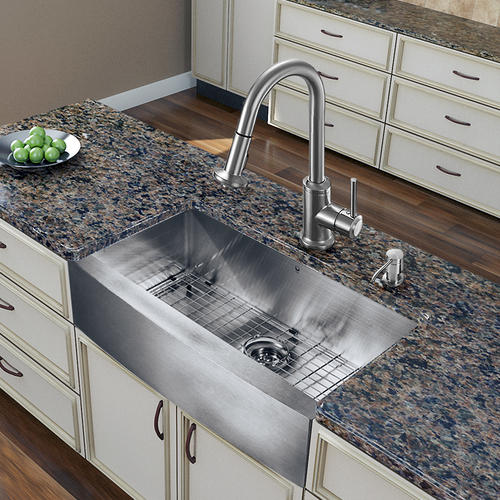 Menards Kitchen Sinks : ... Steel All-in-One Farmhouse Kitchen Sink and Faucet Set at Menards