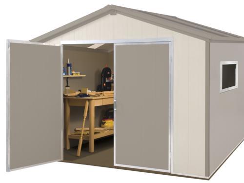Vision 9 5 39 x 8 39 vinyl storage shed at menards for Garden shed 9 x 5