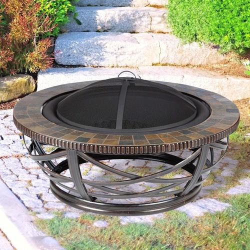 menards fire pit backyard creations 40 quot slate pit at menards 174 29488