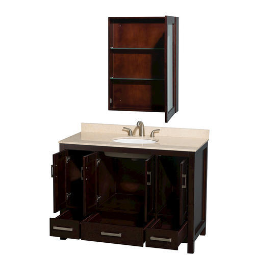 Wyndham collection sheffield 48 espresso single vanity - Menards bathroom vanities 48 inches ...