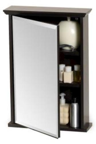 menards bathroom medicine cabinet zenith 16 quot espresso swing door medicine cabinet with crown 19438