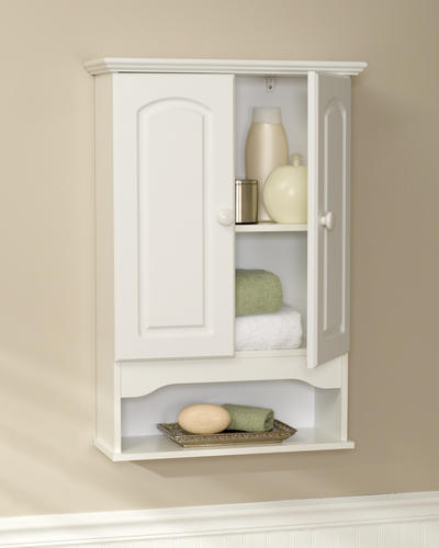 Zenna home white wall cabinet at menards - Menards bathroom wall cabinets ...