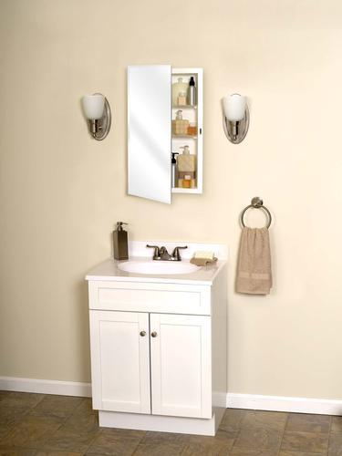 Zenith beveled swing door medicine cabinet at menards for Zenith bathroom cabinets