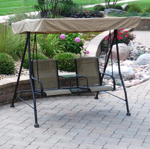 backyard creations laguna 2 person swing at menards