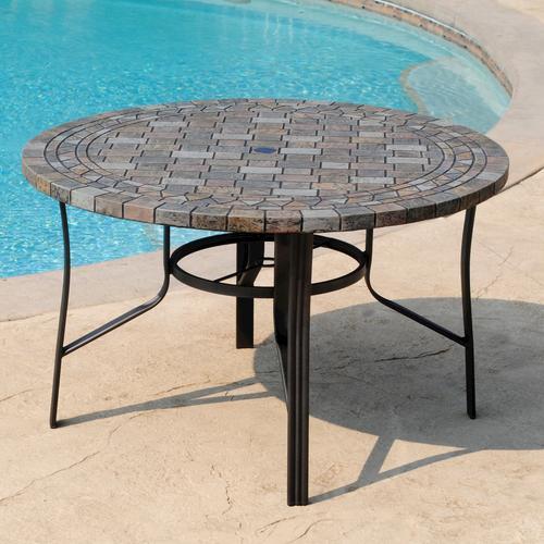 backyard creations brooklyn dining table at menards