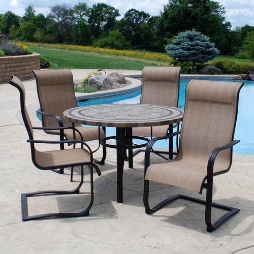 creations 5 piece cascade falls dining collection at menards