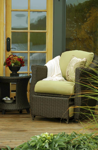 Sterling Home Amp Patio Etta Woven Patio Chair With Hidden
