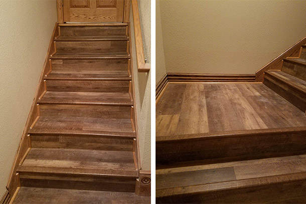 Vinyl Plank Stairs Project By